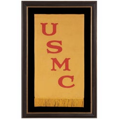 Rare United States Marine Corps Banner of the 1910-1920 Era