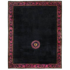Art Deco Chinese Rug with Dragon Border