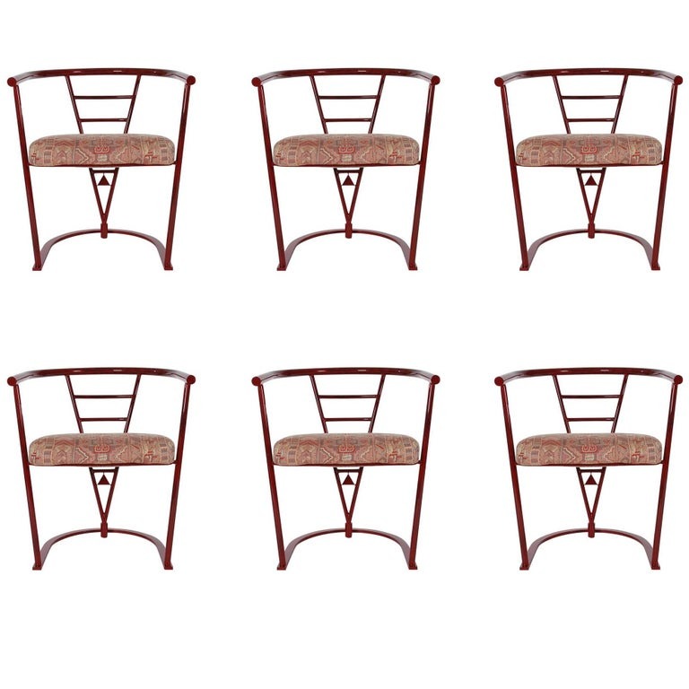 Midcentury Post Modern Italian Style Dining Chairs After Sottsass for Memphis For Sale