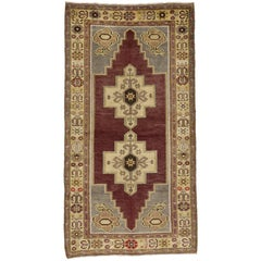 Vintage Turkish Oushak Rug with Traditional Modern Style