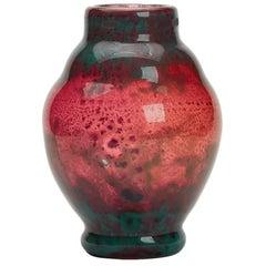 Muller Freres Lunneville Intercalaire Art Glass Vase, circa 1910