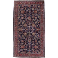 Antique Turkish Blue Sparta Gallery Rug with Modern Traditional Style