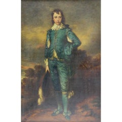Oil Painting Blue Boy after Gainsborough by Robert Crozier