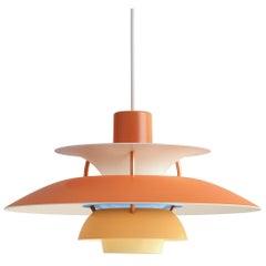 Poul Henningson Orange PH5 Mini Pendants for Louis Poulsen