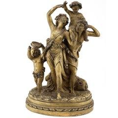Terracotta Sculpture, Triomphe Bacchus Claude Michel Clodion