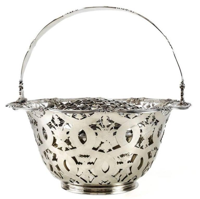 Tiffany & Co Makers Sterling Silver Flower Basket