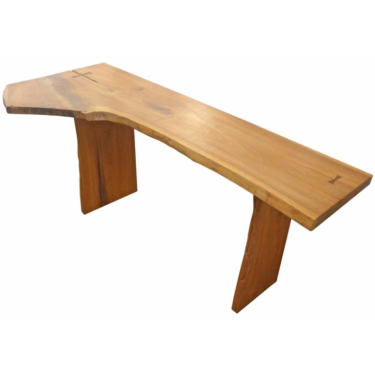 Organic Wood Desk or Console Table For Sale