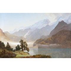"Janus la Cour, ""From Engstlen Alp. Berner Oberland"", Signed and Dated"