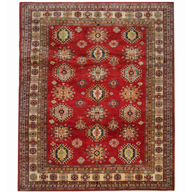 Oriental Rug Red Hand Made Carpet
