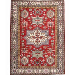 Red Afghan Rugs, Kazak Rugs from Afghanistan, a Kind of Traditional Rugs