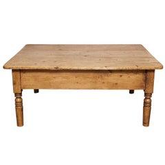 English Pine Coffee Table, circa 1880s