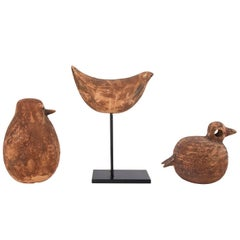 1960s Set of Three Bitossi Terra Cotta Birds