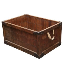Early 20th Century Wooden Delivery Box