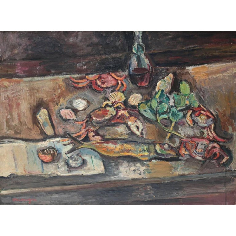 Oil on Canvas, Still Life, Pinchus Kremegne