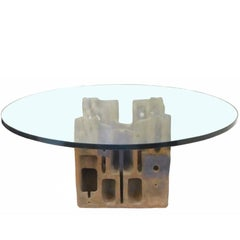 Stoneware and Glass Coffee Table by George Greenamyer