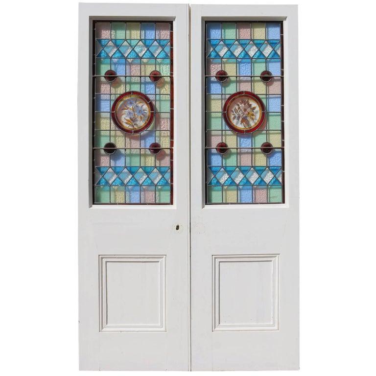 Victorian Leaded Glass Door At 1stdibs