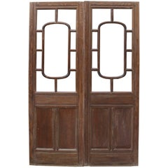 Early 20th Century Glazed Oak Double Doors