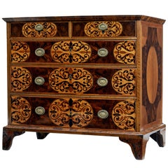 Early 18th Century Dutch Walnut Inlaid Chest of Drawers