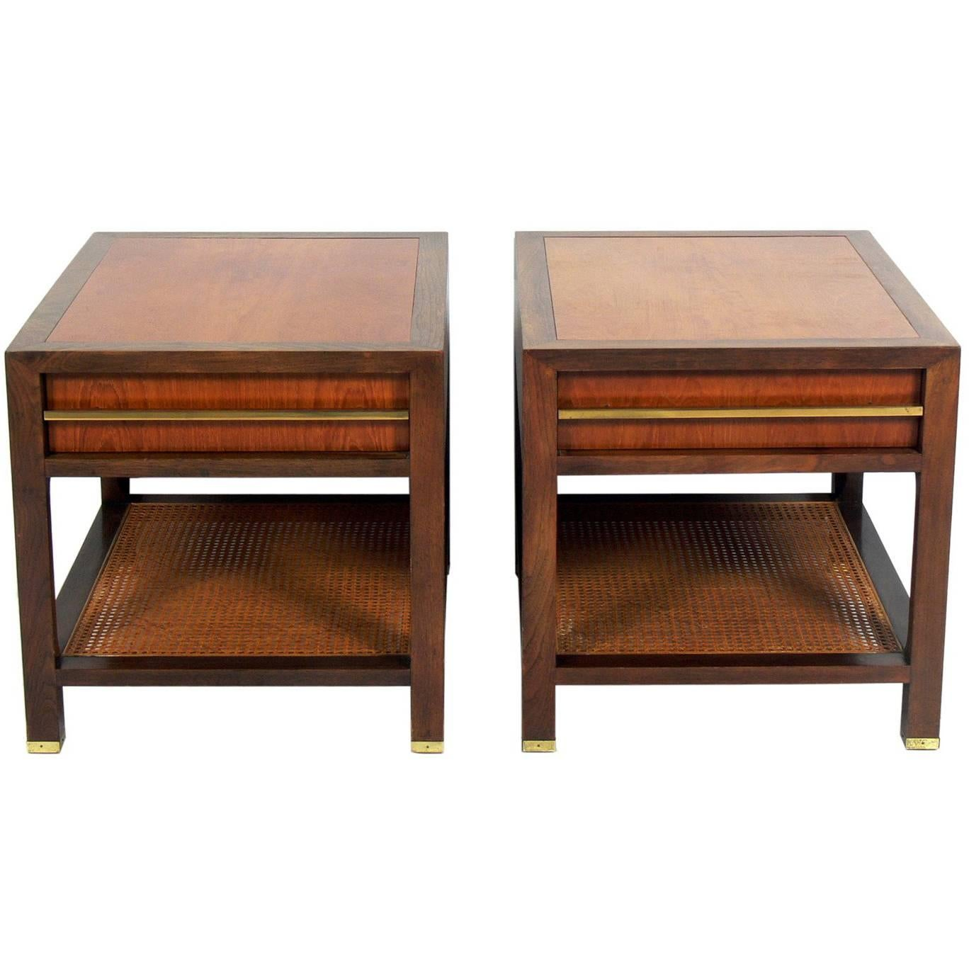 Pair Of Clean Lined End Tables By Michael Taylor For Baker 1