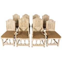 Set of Eight Jacobean Style Chairs