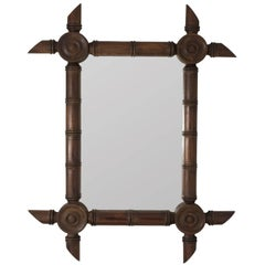 Large Faux Bamboo Mirror