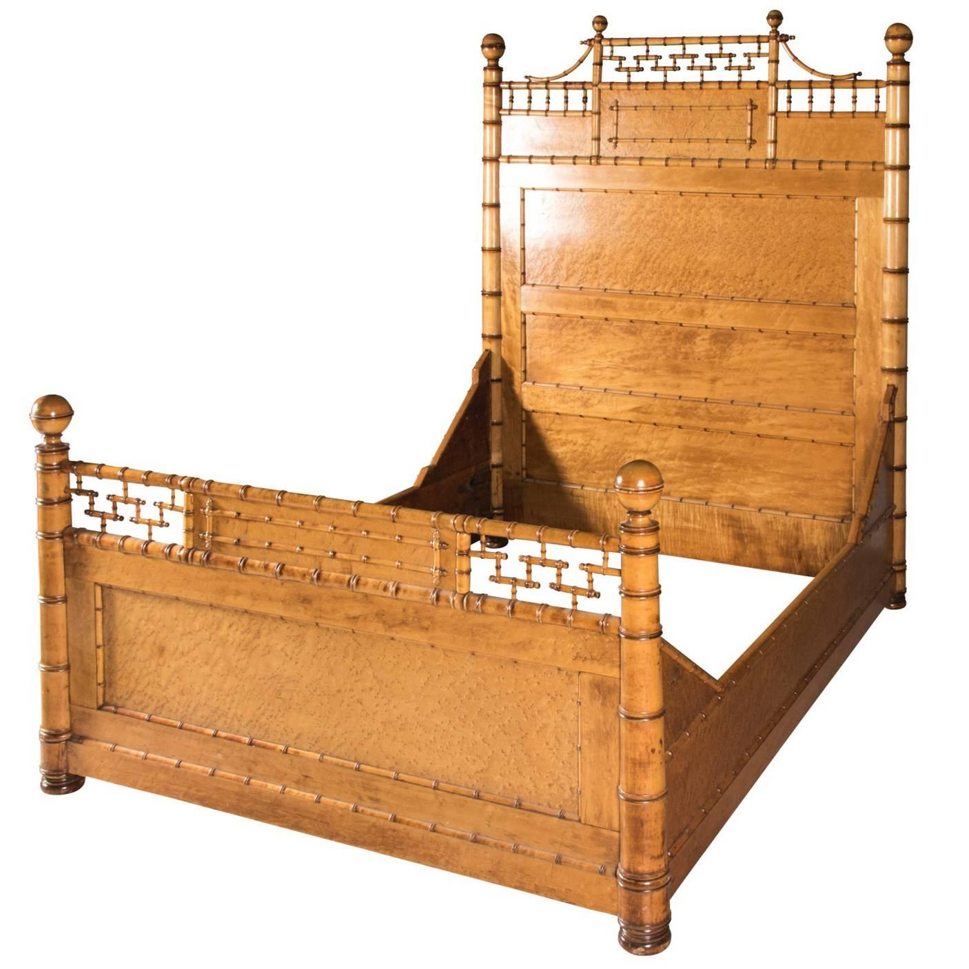 Faux Bamboo Bed Frame, Circa 1880 1