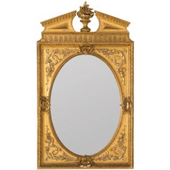 Neoclassical Mirror with Gold Gilt