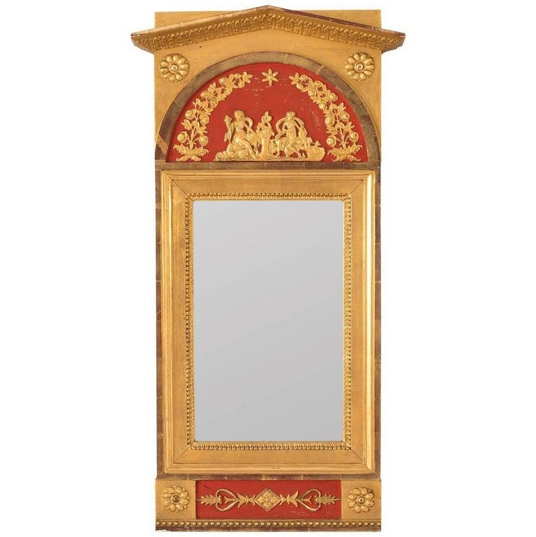 Gustavian Style Painted Mirror