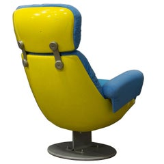 Excellent Comfortable Cinema Chair from a Cinema in Paris, circa 1970