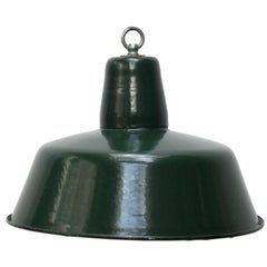 Dark Green Vintage Enamel Industrial Pendant Hanging Light