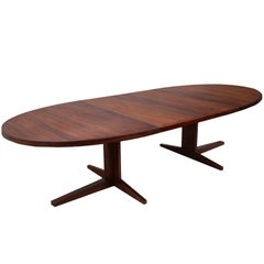 John Mortensen Expandable Rosewood Dining Conference Table