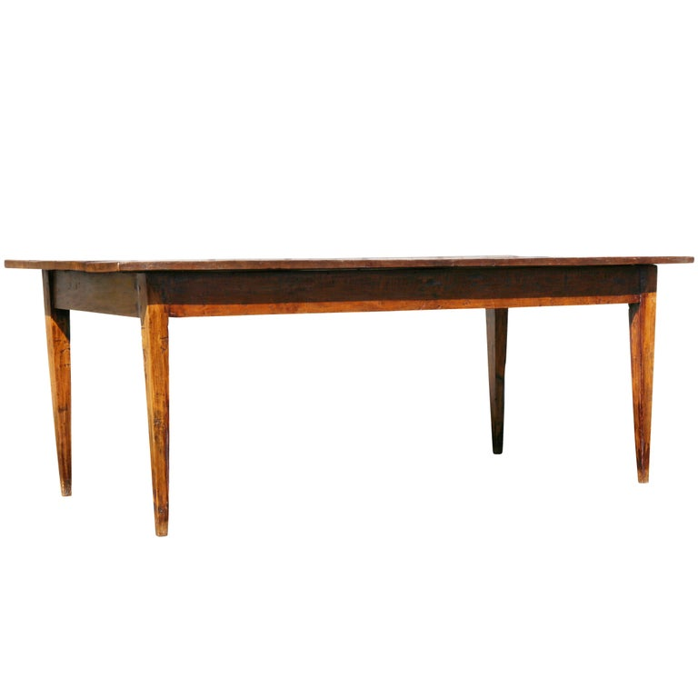 French Style Walnut Farm Table