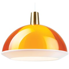 Yki Nummi Orange 'Kuplat' Pendant for Innolux Oy, Finland