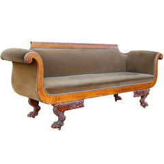 American Classical Bird's-Eye Maple Sofa