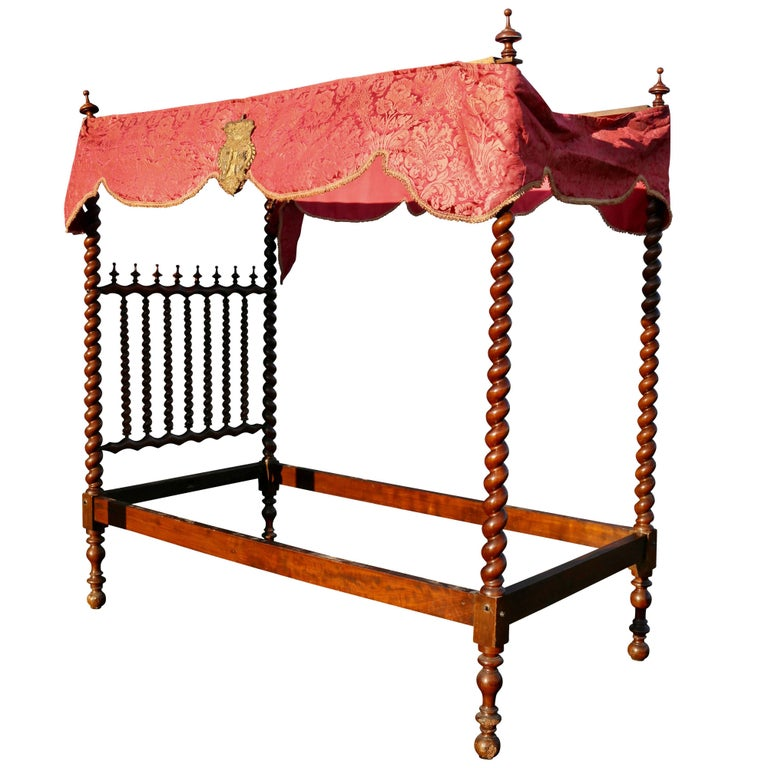 portuguese rosewood tester bed for sale at 1stdibs. Black Bedroom Furniture Sets. Home Design Ideas