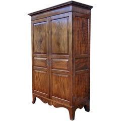 George III Mahogany Linen Cabinet