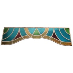 Large Art Deco Stained-Glass Impost