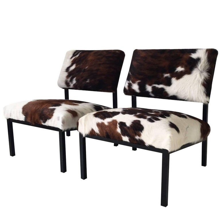 Stunning Set of Cowhide Lounge Chairs by Martin Visser for 't Spectrum, 1950s