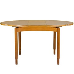 Italian Wood and Laminate 1960s Extensible Dining Table