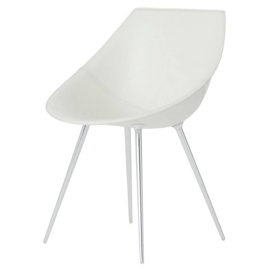 U0026quot;Lagou0027u0026quot; Leather Shell And Anodized Aluminum Legs Chair By ...