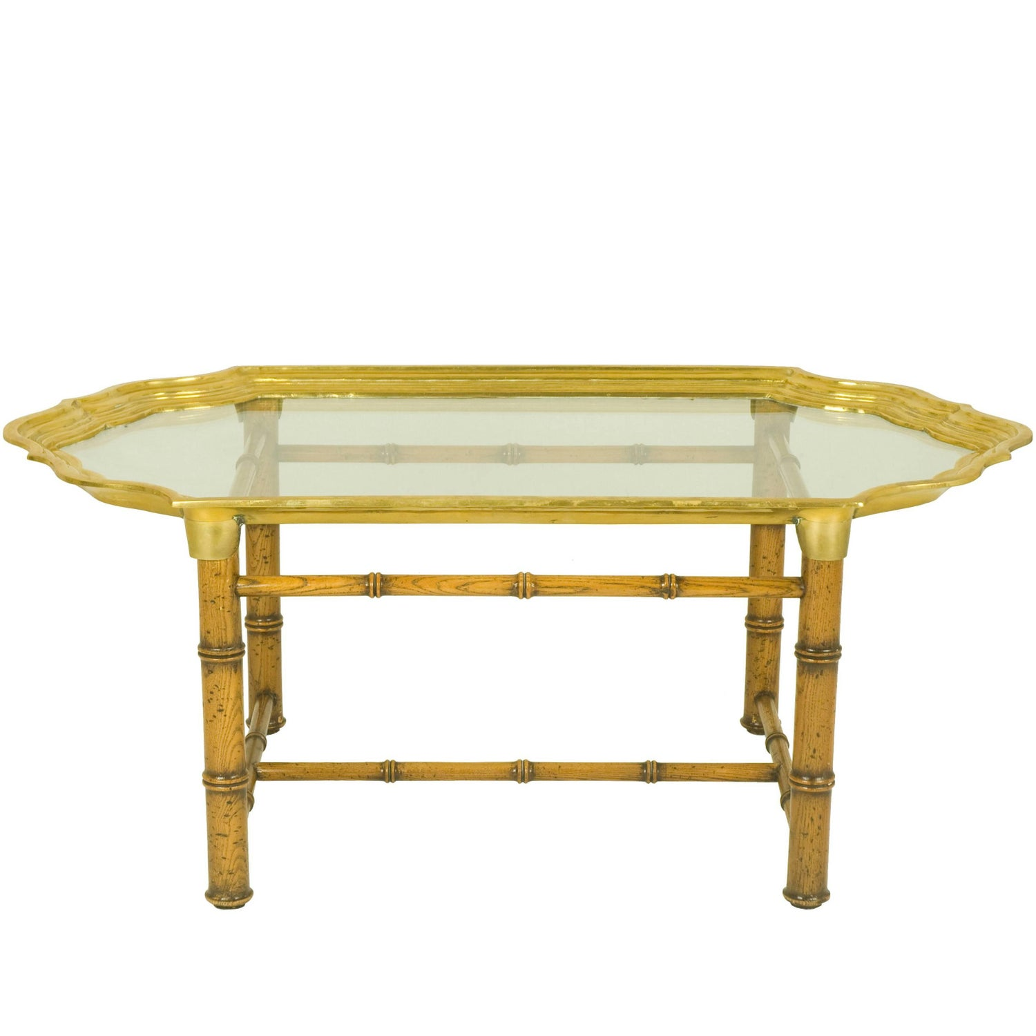 italian wood and brass 1970s coffee table for sale at 1stdibs