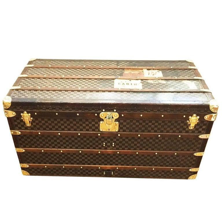 Louis Vuitton Damier Patterned Courier Trunk, circa 1890
