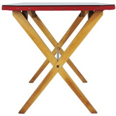 Wood, Fabric and Glass Italian 1940s Rationalist Desk