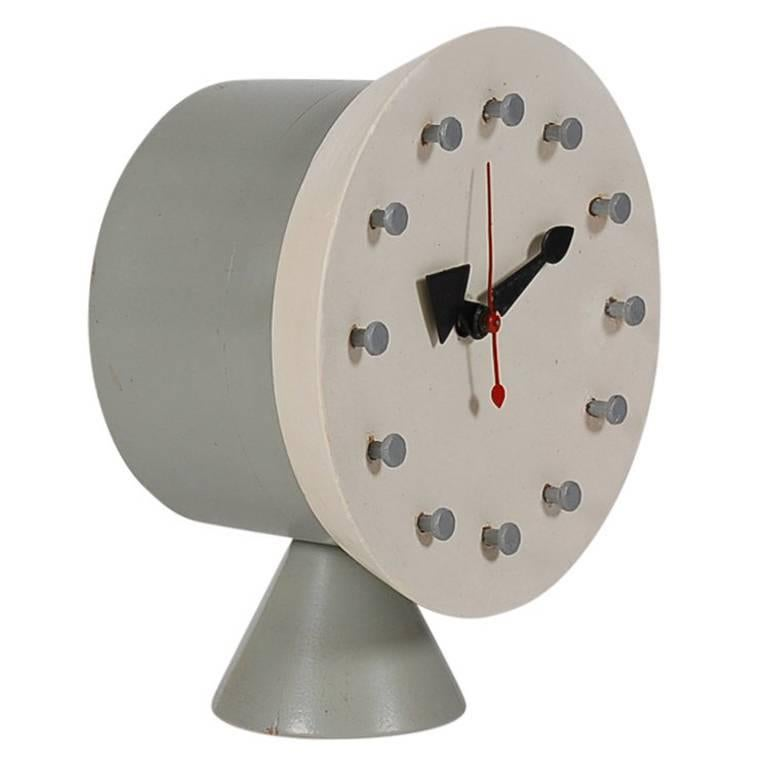 Mid-Century Modern George Nelson Table or Desk Clock for Howard Miller Clock Co