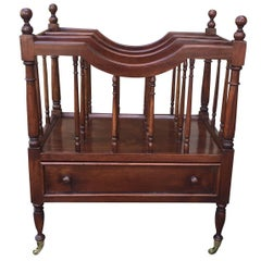 English Regency Style Mahogany Canterbury, circa 1920s