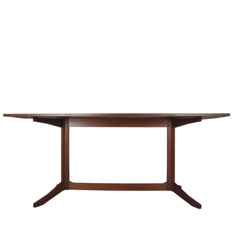 Rosewood TL14 Italian Dining Table by Poggi, 1958 For Sale
