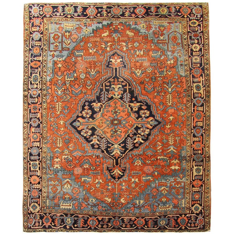 Antique Persian Rugs, Carpet Rug from Heriz