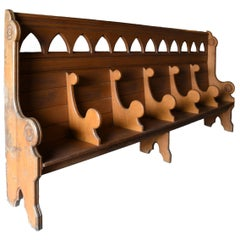 Quartersawn Divided Oak Church Pew