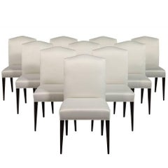 Set of Ten Carrocel Custom Amara Modern Parson Dining Chairs
