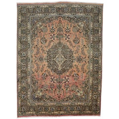Vintage Khorassan Persian Rug with Traditional Style